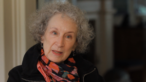 Margaret Atwood close