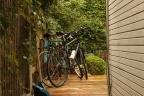 Rainy day bike refuge